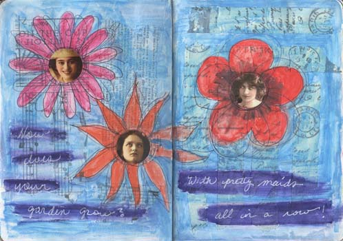 Sketchbook Project - flowers DPP