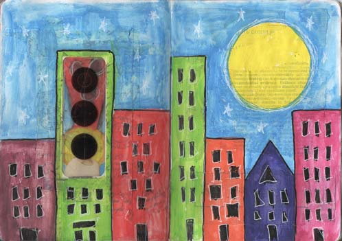 Sketchbook project - city skyline