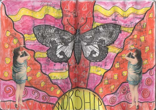 Sketchbook project - moth