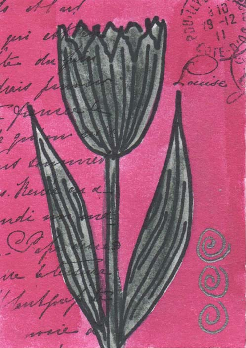 Charcoal tulip