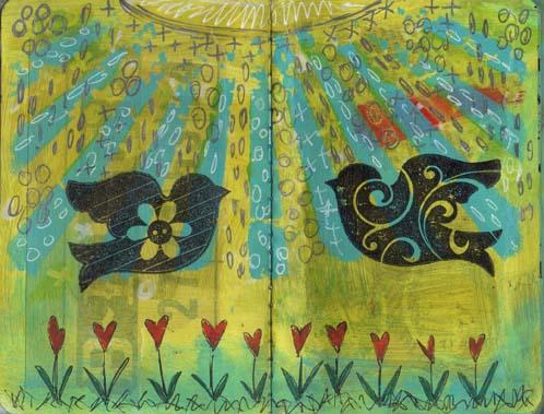 Mini journal birds